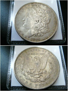 1889 P MORGAN SILVER DOLLAR CHOICE XF COIN   NICE ORIGINAL TONED