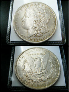 1889 P MORGAN SILVER DOLLAR CHOICE AU COIN   NICE ORIGINAL TONED
