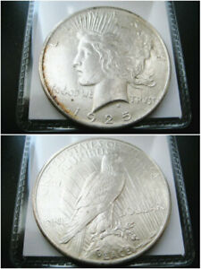 1925 P PEACE SILVER DOLLAR CHOICE UNC BU COIN