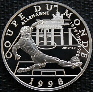 FRANCE 10 FRANCS BE SILVER COUPE DU MONDE FRANCE 1998 GERMANY