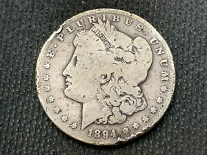 1894 S   MORGAN DOLLAR   G      3 OR MORE   FREE S/H      90  SILVER   A968