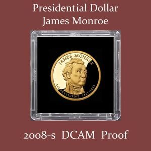 2008 S JAMES MONROE PROOF DOLLAR   $2.75 MAXIMUM SHIPPING FOR ENTIRE ORDER