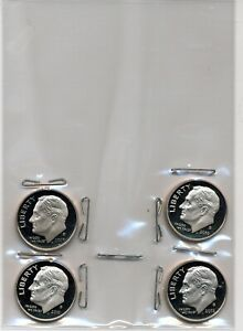 LOT OF 4 COINS CLAD 2010-S 2009-S ROOSEVELT DIMES 2011-S /& 2012-S PROOF