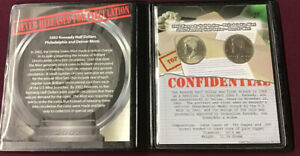 2002 P & D KENNEDY HALF DOLLAR CONFIDENTIAL SET FIRST COMMEMORATIVE MINT