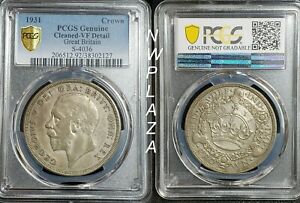 Click now to see the BUY IT NOW Price! 1931 GREAT BRITAIN SILVER CROWN PCGS VF DETAILS   ULTRA  4 056 MINTAGE