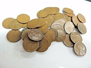 FULL ROLL OF 1944 LINCOLN WHEAT CENTS
