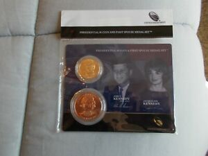 2015 PRESIDENTIAL $1 COIN AND FIRST SPOUSE MEDAL SET JOHN & JACQUELINE KENNEDY