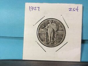 1927  STANDING LIBERTY SILVER QUARTER EXCELLENT DETAILS & EYE APPEAL