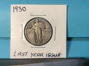 1930 STANDING LIBERTY SILVER QUARTER EXCELLENT DETAILS & EYE APPEAL