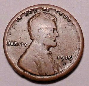 1916 D LINCOLN WHEAT CENT PENNY   NOT STOCK PHOTOS     >FILLER<