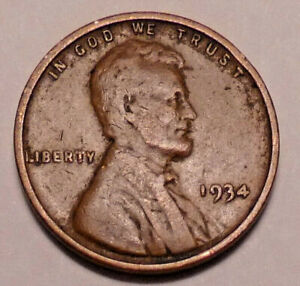 1934 P LINCOLN WHEAT PENNY CENT   NOT STOCK PHOTOS