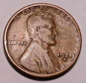 1929 S LINCOLN WHEAT CENT PENNY   NOT STOCK PHOTOS