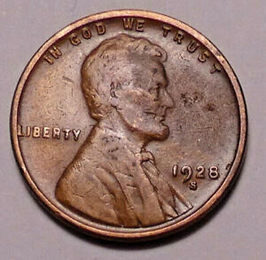 1928 S LINCOLN WHEAT PENNY   NOT STOCK PHOTOS