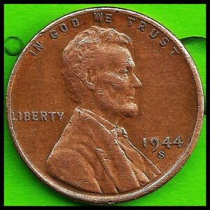 1944 S: BRN VG  LINCOLN WHEAT CENT