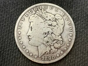 1880 P  MORGAN DOLLAR   F VF       3 OR MORE   FREE S/H      90  SILVER    C1138