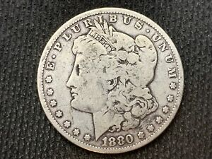 1880 P  MORGAN DOLLAR   VG         3 OR MORE   FREE S/H      90  SILVER    C1133