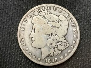 1890 O  MORGAN DOLLAR   VF         3 OR MORE   FREE S/H      90  SILVER    C1127