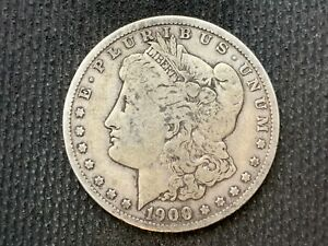 1900 O  MORGAN DOLLAR   F VF       3 OR MORE   FREE S/H      90  SILVER    C1114