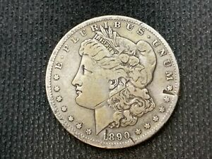 1890 S MORGAN DOLLAR   VF        3 OR MORE   FREE S/H        90  SILVER    C1112