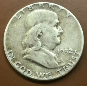 1952 P FRANKLIN SILVER HALF DOLLAR ORIGINAL US COIN 1   TCC