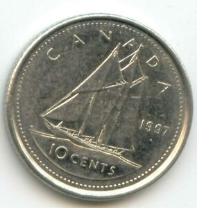 CANADA 1997 DIME CANADIAN 10 CENT PIECE 10C TEN CENTS EXACT COIN SHOWN