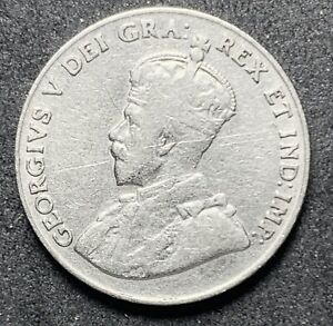 1929 CANADA 5 CENTS GEORGE V NICKEL.  1097