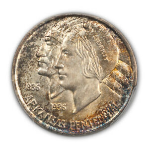 Click now to see the BUY IT NOW Price! ARKANSAS 1937 S 50C SILVER COMMEMORATIVE PCGS MS67