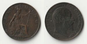 1906 GREAT BRITAIN FARTHING COIN