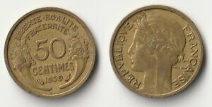 1939 FRANCE 50 CENTIMES COIN