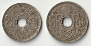 1924 FRANCE 25 CENTIMES COIN