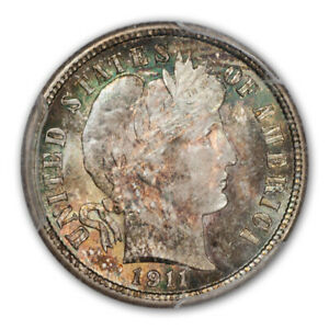 Click now to see the BUY IT NOW Price! 1911 10C BARBER DIME PCGS MS67  CAC