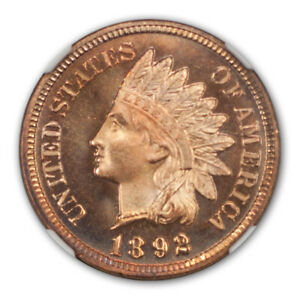 Click now to see the BUY IT NOW Price! 1892 BRONZE INDIAN CENT 1C NGC PR67 RD CAM