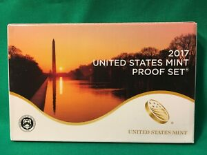 2017 S UNITED STATES MINT PROOF SET 10 COINS WITH QUARTERS BOX & COA
