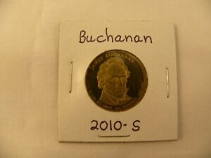 2010 S BUCHANAN PRESIDENTIAL GOLDEN DOLLAR COIN  CIRCULATED PROOF