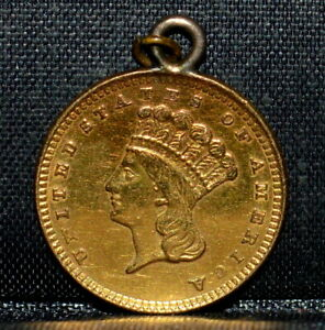1861 P $1 GOLD DOLLAR  XF DETAILS  EXTRA FINE TYPE 3 T3 EX JEWELERY TRUSTED