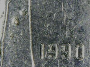 ERROR COIN: CANADA DIME 10 CENTS HOLES IN SAILS BY 1990   1 ON QUEEN'S CHIN