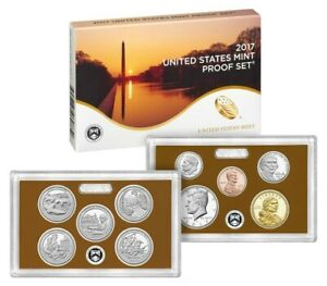 2017 S U.S. MINT CLAD PROOF SET 10 COINS WITH NATIVE AMERICAN & QUARTERS