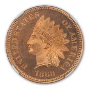 Click now to see the BUY IT NOW Price! 1868 BRONZE INDIAN CENT 1C NGC PR66 RD CAM