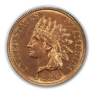 Click now to see the BUY IT NOW Price! 1886 1C VARIETY 2 INDIAN CENT   TYPE 3 BRONZE PCGS MS66RD  CAC