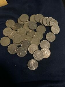 OLD AUSTRALIA COIN LOT   20 CENTS   43 COINS