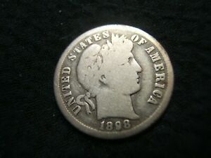 1898 O BARBER SILVER DIME  G/VG NICE ORIGINAL COLOR MUST SEE