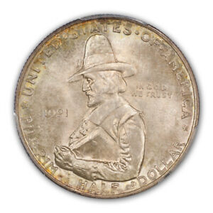 Click now to see the BUY IT NOW Price! PILGRIM 1921 50C SILVER COMMEMORATIVE PCGS MS67