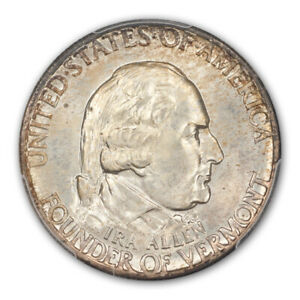 Click now to see the BUY IT NOW Price! VERMONT 1927 50C SILVER COMMEMORATIVE PCGS MS67