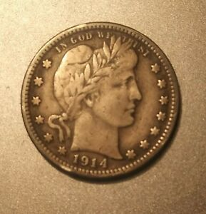 1914 BARBER QUARTER FULL LIBERTY
