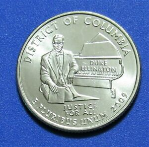 2009 P 25C DISTRICT OF COLUMBIA TERRITORY QUARTER   UNCIRCULATED FROM MINT ROLL