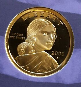 2000 S PROOF SACAGAWEA DOLLAR FROM MINT SET
