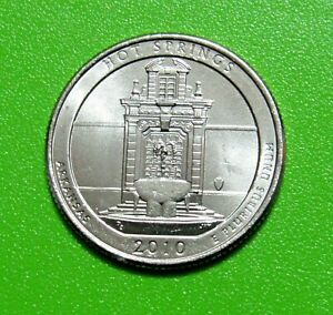 2010 P 25C HOT SPRINGS ARKANSAS NATIONAL PARKS AMERICA THE BEAUTIFUL QUARTER