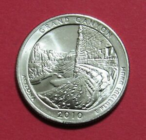 2010 D 25C GRAND CANYON ARIZONA NATIONAL PARKS AMERICA THE BEAUTIFUL QUARTER