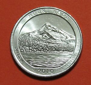 2010 D 25C MOUNT HOOD OREGON NATIONAL PARKS AMERICA THE BEAUTIFUL QUARTER