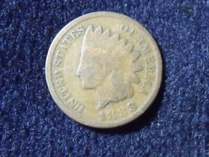1888 INDIAN HEAD CENT G VG DETAILS    T 21
